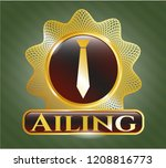 shiny badge with necktie icon...   Shutterstock .eps vector #1208816773
