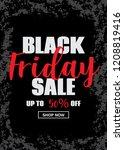 black friday sale inscription... | Shutterstock .eps vector #1208819416
