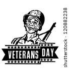 veterans day banner   retro... | Shutterstock .eps vector #120882238