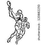 football receiver   retro... | Shutterstock .eps vector #120882250