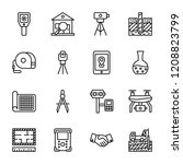 geodesy survey icons | Shutterstock .eps vector #1208823799