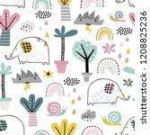 safari animals seamless pattern ... | Shutterstock .eps vector #1208825236