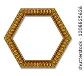 frame gold color with emeralds... | Shutterstock .eps vector #1208825626