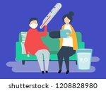 character illustration of... | Shutterstock .eps vector #1208828980