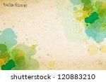 Vector Watercolor Splatter On...