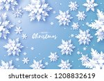 merry christmas and happy new... | Shutterstock . vector #1208832619