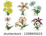 2d illustration. decorative... | Shutterstock . vector #1208840623