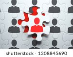 selecting right people for... | Shutterstock . vector #1208845690