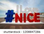 hashtag i love nice sign with... | Shutterstock . vector #1208847286