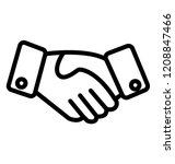 handshake in mutual agreement | Shutterstock .eps vector #1208847466