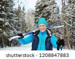 happy senior sportsman with... | Shutterstock . vector #1208847883