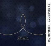 minimal creative golden line... | Shutterstock .eps vector #1208848966