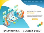 automated software testing...   Shutterstock .eps vector #1208851489
