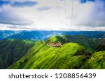 beautiful green hills and... | Shutterstock . vector #1208856439