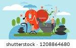 holistic healing vector... | Shutterstock .eps vector #1208864680
