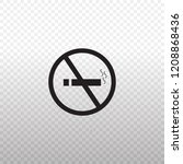 solid icon black don't smoke... | Shutterstock .eps vector #1208868436