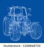 farm tractor concept. vector...   Shutterstock .eps vector #1208868733
