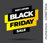 black friday sale inscription... | Shutterstock .eps vector #1208873416