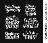 vector set of motivational... | Shutterstock .eps vector #1208875816