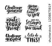 vector set of motivational... | Shutterstock .eps vector #1208875819