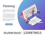 planning of schedule and... | Shutterstock .eps vector #1208878813