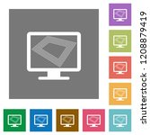 screen saver on monitor flat... | Shutterstock .eps vector #1208879419