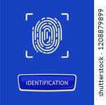 identification fingerprints... | Shutterstock .eps vector #1208879899