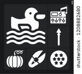 set of 6 art filled icons such... | Shutterstock .eps vector #1208882680