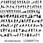 sexy silhouettes | Shutterstock . vector #120889714