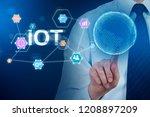 unrecognizable businessman in... | Shutterstock . vector #1208897209