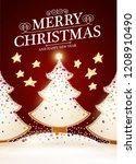 merry christmas cute design...   Shutterstock .eps vector #1208910490