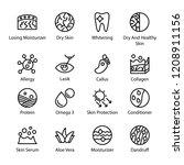 dermatology icon set | Shutterstock .eps vector #1208911156