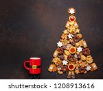 christmas concept with... | Shutterstock . vector #1208913616