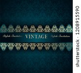 vintage card  classic design... | Shutterstock .eps vector #1208915590
