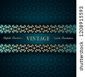 vintage card  classic design... | Shutterstock .eps vector #1208915593