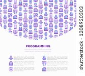 programming concept with thin... | Shutterstock .eps vector #1208920303