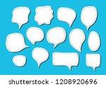 vector bubbles speech set. hand ...   Shutterstock .eps vector #1208920696