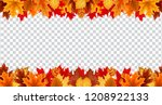 autumn leaves  border frame... | Shutterstock .eps vector #1208922133