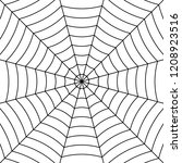 cobweb background with black... | Shutterstock .eps vector #1208923516