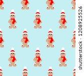 gingerbread man seamless... | Shutterstock .eps vector #1208925526