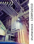 industrial steel pipelines ... | Shutterstock . vector #1208926510