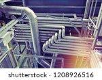 industrial steel pipelines ... | Shutterstock . vector #1208926516
