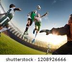 children soccer player in... | Shutterstock . vector #1208926666