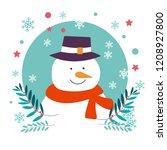 snowman character of christmas... | Shutterstock .eps vector #1208927800