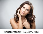 portrait of beautiful young... | Shutterstock . vector #120892783