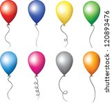 colorful balloons for holiday... | Shutterstock .eps vector #120893476
