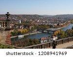 old bridge in wurzburg bavaria... | Shutterstock . vector #1208941969