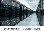 server room center exchanging... | Shutterstock . vector #1208944696