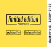 limited edition exclusive offer ... | Shutterstock .eps vector #1208949436