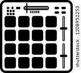 sampler drum machine hip hop... | Shutterstock .eps vector #1208952253